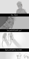 SNK:I'll try not to disappoint you. by Sangcoon