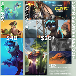Commission Prices 2017 by TangoMangoFandango