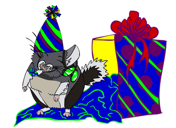 Chinchilla Birthday Doodle by skriy