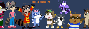 My Favorite Cartoon Raccoons by JustinandDennis
