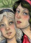 Snow White and Rose Red ACEO by WhimsicalMoon