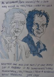 John Cage and Merce Cunningham by dauwdrupje