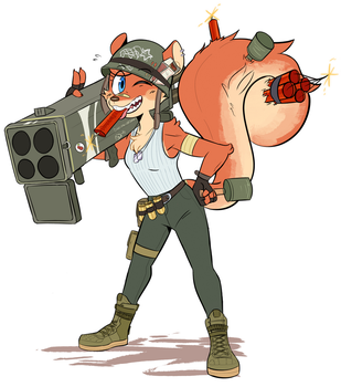 Kaboom Squirrel by Beezii11
