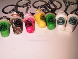 Frappuccino keyrings charms by cinnamonhaven