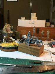 32nd Scale Master for commercial WWI bike/sidecar by Carl-Seager