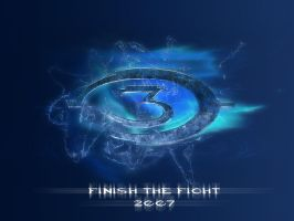 Wallpaper - Halo 3 Logo by Pokehkins