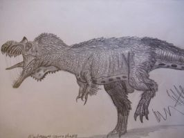Albertosaurus speeddrawing by Teratophoneus