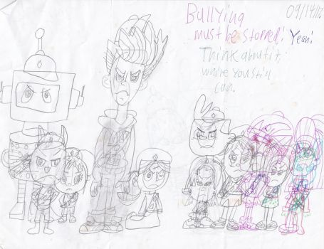 Bullying Must be stopped Sketch by NickEinsteins4Life
