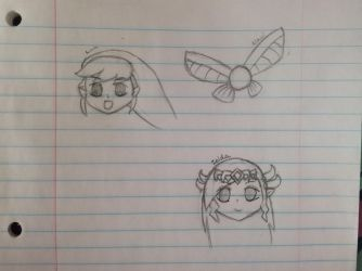 LoZ Sketches (Part 1 of ?) by PinkyPie25800
