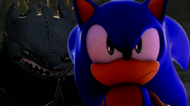 Sonic and Toothless:Ready for Battle: by Xbox-DS-Gameboy