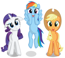 AJ, Dash and Rarity by Really-unimportant