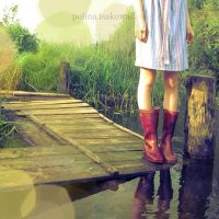 red rubber boots by PolinaIsakowa