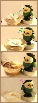Loki-bird and 'Banoffee Pie' by cat-cat