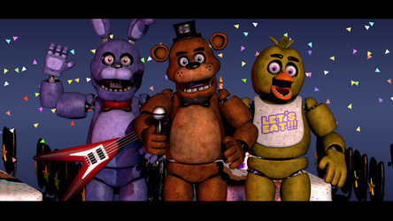 Join The Band! - FNaF Blender Poster by ChuizaProductions