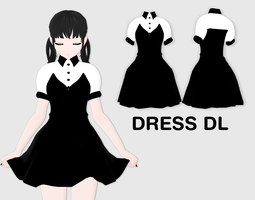 MMD Dress DL by UnluckyCandyFox