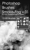 Shades SmokeFog v.01 HD Photoshop Brushes by shadedancer619