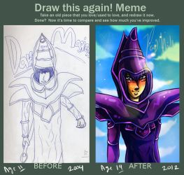 Draw This Again: Dark Magician by Witchin