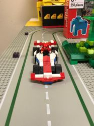 Michael is driving an Indy racer by godzillaSan