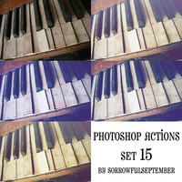 Photoshop Action 15 Set by SorrowfulSeptember