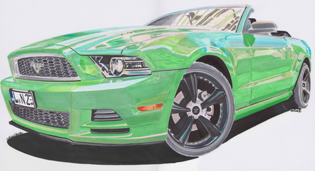 2013 Ford Mustang Cabrio by theTobs