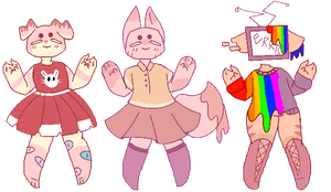 Anthro adopt batch 5 (CLOSED) by Zesty-Adopts
