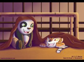 KFP Cubs Po And Tigress by kreazea