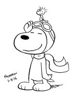 Daily Drawing 1-8-16 Snoopy by joshnickerson