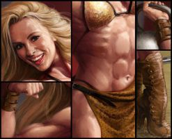 Circus Strongwoman (details) by Feael
