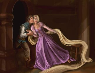 Tangled- The Stolen Kiss by bladesfire