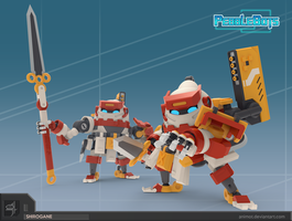 pebblebots shirogane action pose2 by animot
