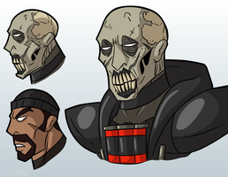Reaper's face idea by MichaelJLarson