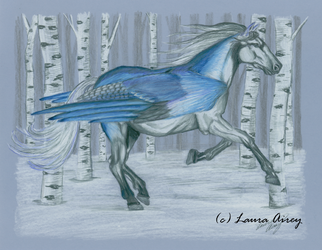 BlueJay Pegasus by Gray-Ghost-Creations