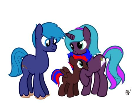 Me And My Oc Family by Freedomeblitz4