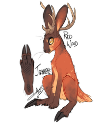 Jackalope: Red Wood by CloverCoin