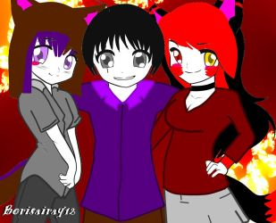 Diamond Wolf, Sansthecrazyphysco And Borisairay12 by borisairay12