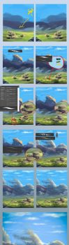 Step by step #1(grass and rocks) by Sylar113