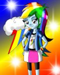 Equestria Girls Rainbow Dash by David3X