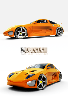 WIP Yet another concept car. by Blubeerd