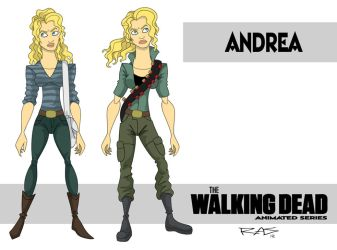 The Walking Dead: Animated Series Andrea by rickytherockstar
