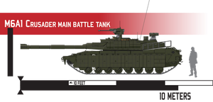 M6A1 Crusader Main Battle Tank - Reactive Armor by Afterskies