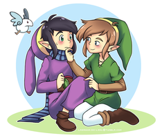 Link and Ravio by Pirra