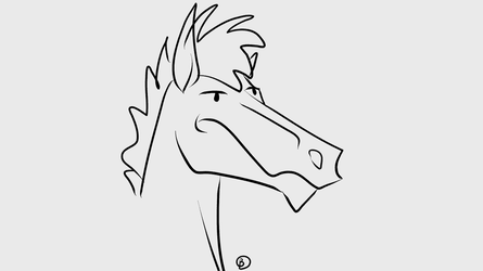 Horse gif test in new program by bakartiaarts