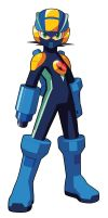 MegaMan.EXE Battle Form Custom Art by Mega-X-stream