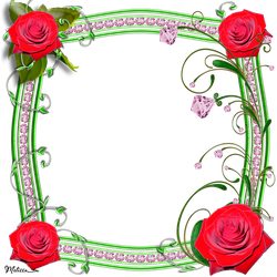 frame roses with swirls png by Melissa-tm