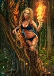 Dryad In Flames by DarkAkelarre