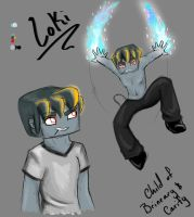Loki Concept (Child of Brineary and Carify) by Carify