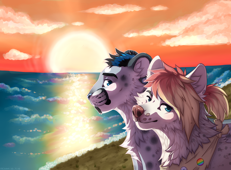 commission: leon and dog by vicoon7