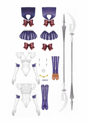 Sailor Saturn Paper Doll part 2 of 2 by starca