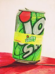 Jolly shandy in color pencil Derwent coloursoft  by khiunngiap