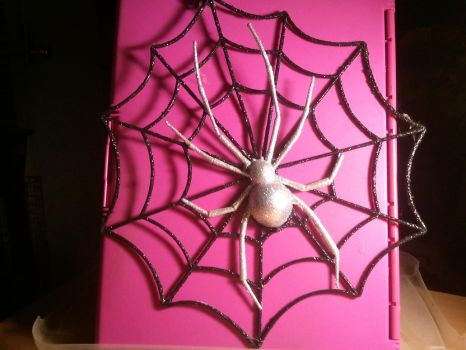 My second Glittering Spider Web by BenorianHardback26